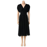Vintage Black Cocktail Dress with Ruching Detail