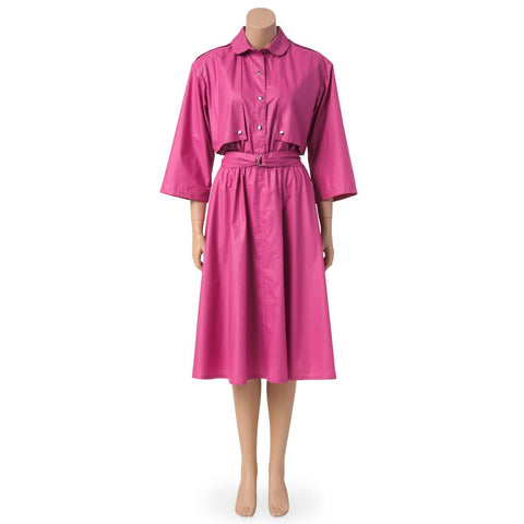 Vintage Pink Trench Dress