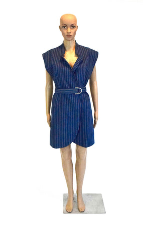 Denim Pinstripe Dress