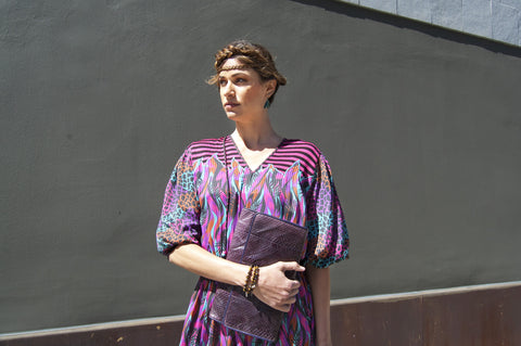 Vintage Purple Diane Freis Dress