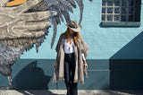 Authentic Aztec Mexican Poncho with Fringe Detail