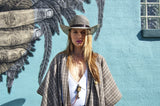 Authentic Cuban Black and Cream Straw Hat