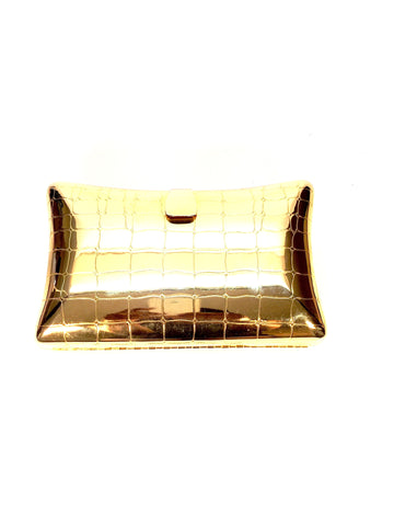 Vintage Gold Metal Italian Evening Purse and Clutch