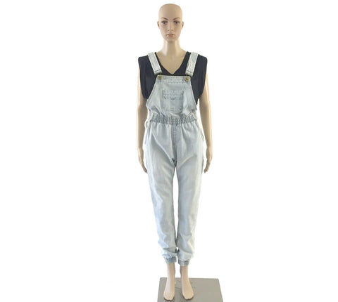 "Light Blue Denim ""Jogger"" Overalls"