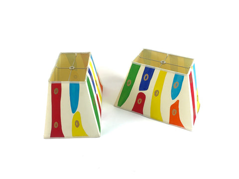 Hand Painted Multi-Color Lampshade Set