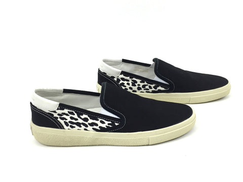 Saint Laurent Leopard Print Slip-On Sneakers