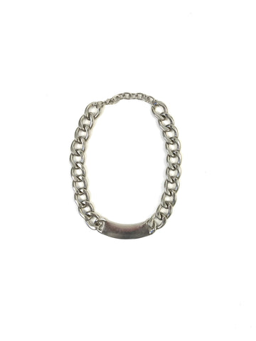 Silver Metal Chain Link Necklace