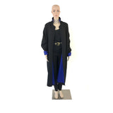 Electric Blue & Black Reversible Full Length Coat