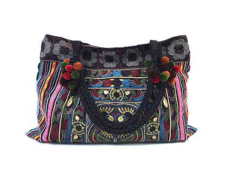 Ethnic Print Hobo Bag