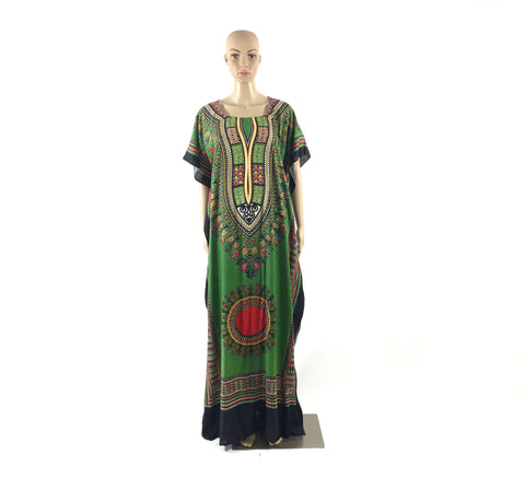 Full Length Green Dashiki
