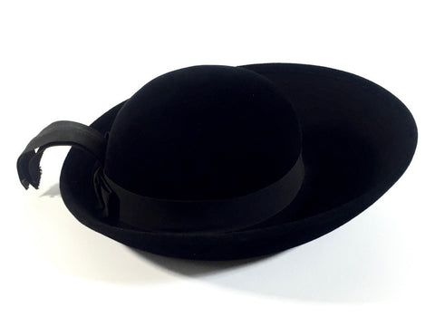 Classic Vintage Mr. John Black Wool Hat