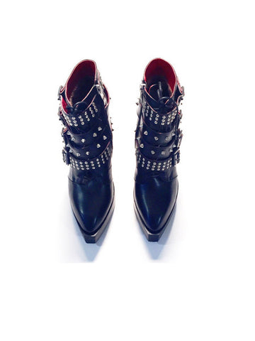 Leather Studded Motorcycle Platforms