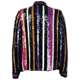 Vintage Multi-Colored Silk Sequins Top