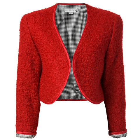 Red Geoffrey Beene Mohair Jacket