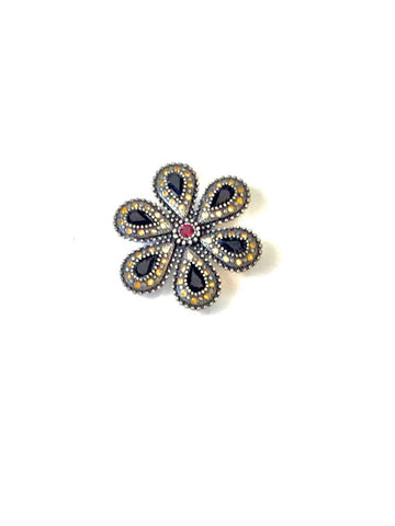 Vintage Jewel Encrusted Brooch