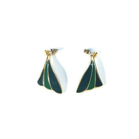 Vintage Emerald Green Drop Earrings