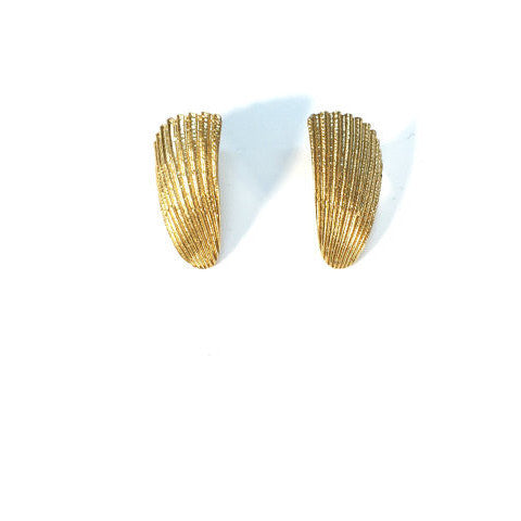 Vintage Gold Wing Stud Earrings