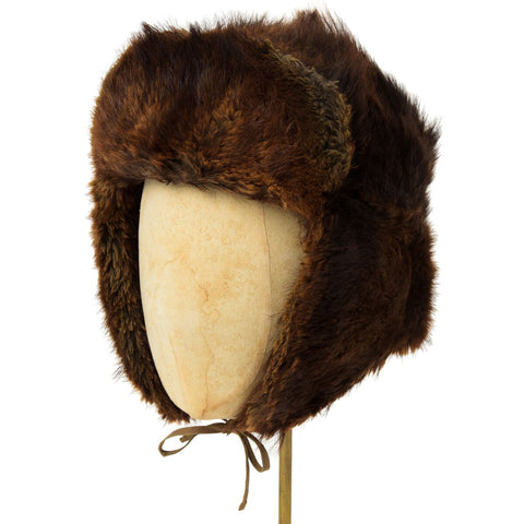 Vintage Brown Beaver Fur Hat