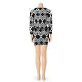 Graphic Sweater Top and Mini Skirt