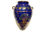 "Vintage Egyptian Vase- ""The Golden Vase of Bast"", a Franklin Mint"
