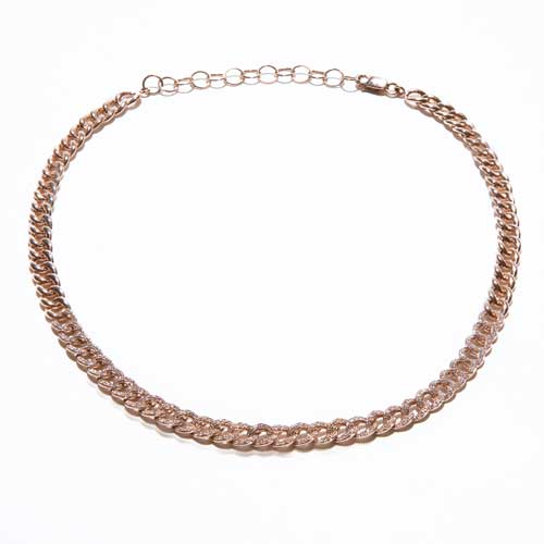 Rose Gold with Pave Diamonds Roman Holiday Choker