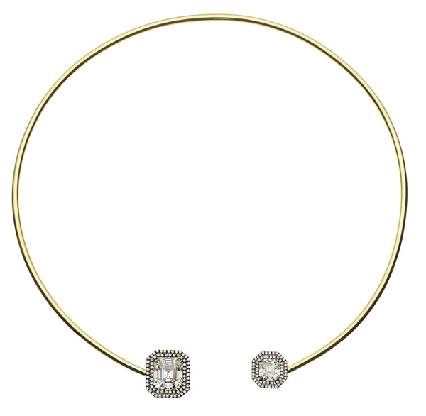 18kt Yellow Gold with Black Rhodium Limited Edition Diamond Collar