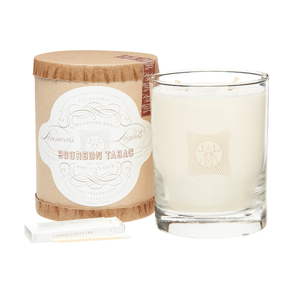 Bourbon Tabac 2-Wick Soy Candle
