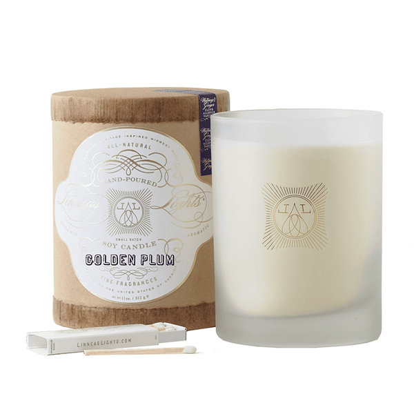 Golden Plum 2-Wick Soy Candle