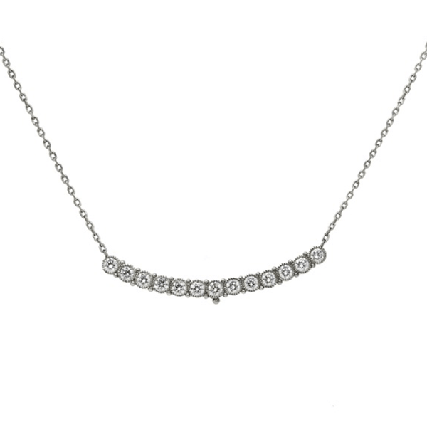 Platinum & Diamond Scoop Necklace