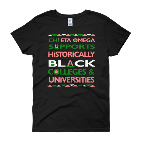 (Chapter Name) Supports HBCU'S Women's Customizable Tee