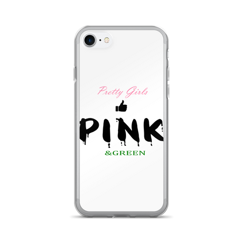 Pretty Girls Like Pink & Green iPhone 7/7 Plus Case