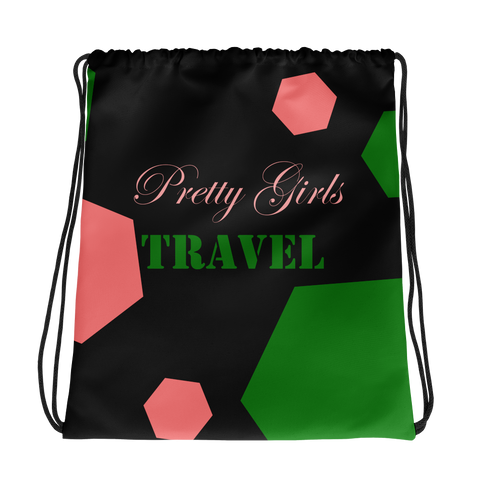 Pretty Girls Travel Drawstring bag