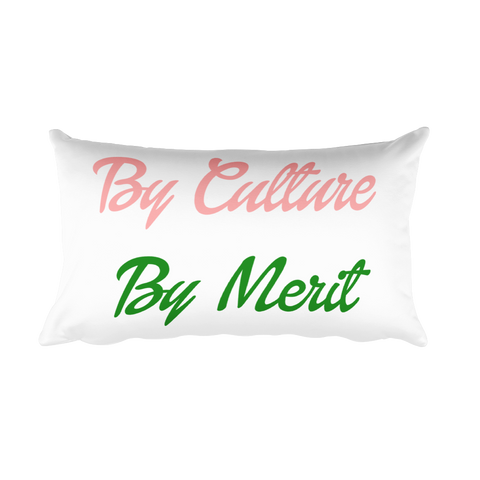 """By Culture and By Merit"" Rectangular Pillow"