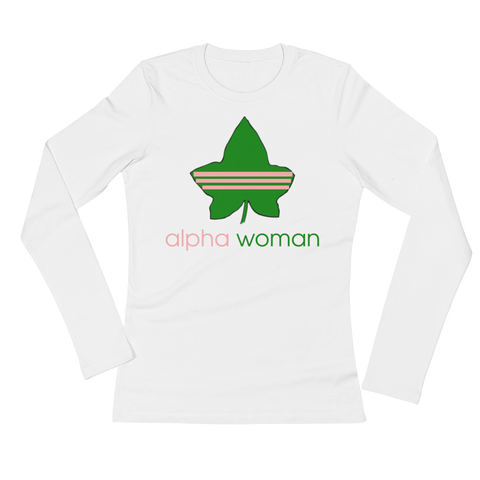 """Alpha Woman"" Alpha Kappa Alpha Sorority Incorporated Longsleeve"