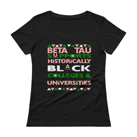 Beta Tau Ladies' Scoopneck T-Shirt