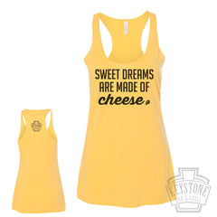 Sweet Dreams are made of Cheese Womens Racerback Tank