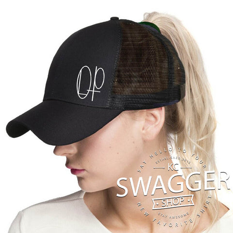 OLP C.C. PONYTAIL HAT RED or BLACK