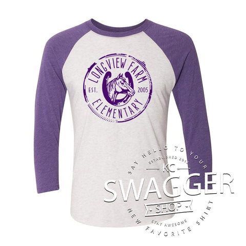 LFE BASEBALL TEE PUPLE (adult only)