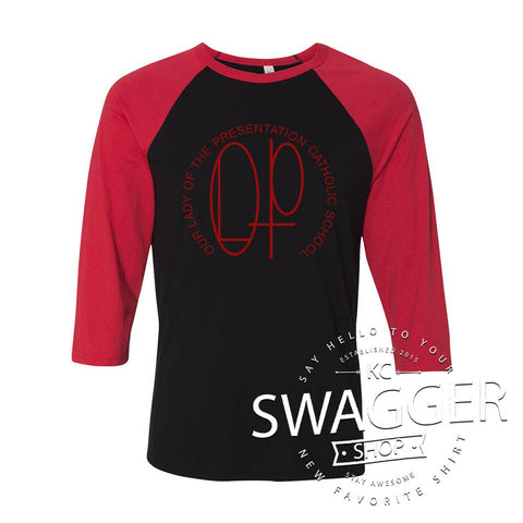 OLP LOGO BASEBALL TEE 2 (adult only)