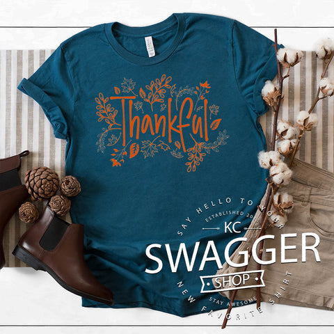 Thankful Tee Deep Teal