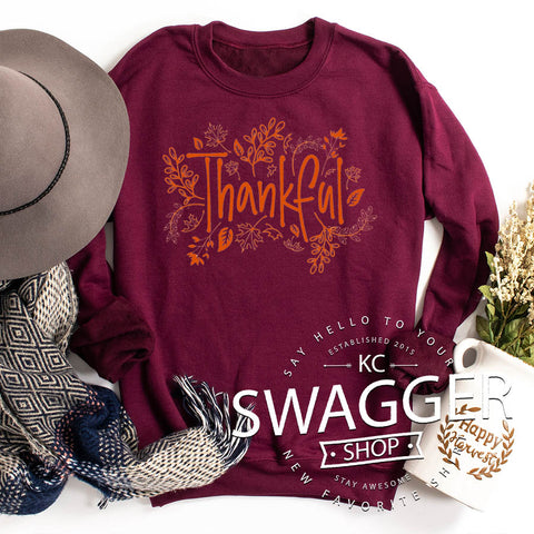 Thankful Sweatshirt Maroon