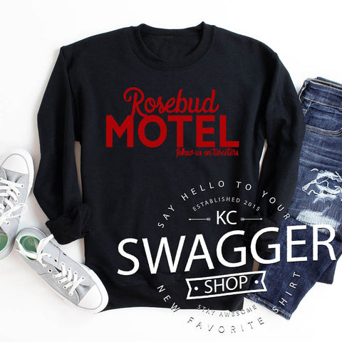 Rosebud Motel Black Sweatshirt