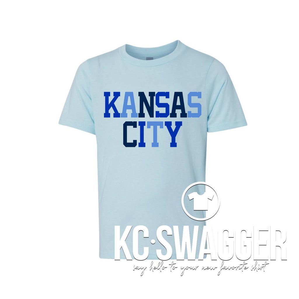 ROYALLY AWESOME KIDDO ICE BLUE TEE