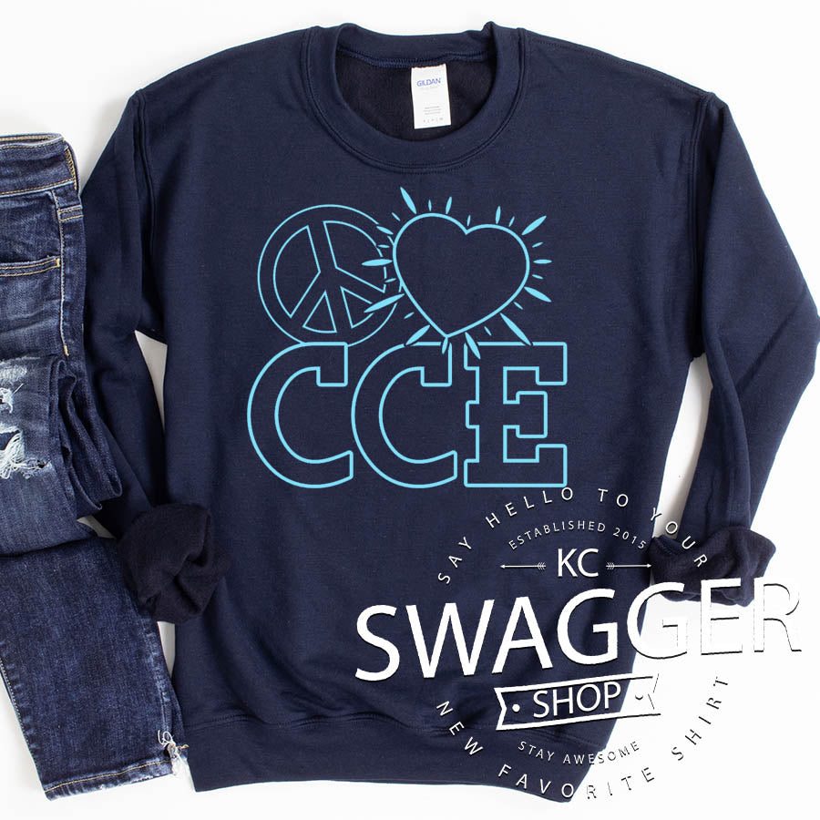 CCE PEACE LOVE SWEATSHIRT