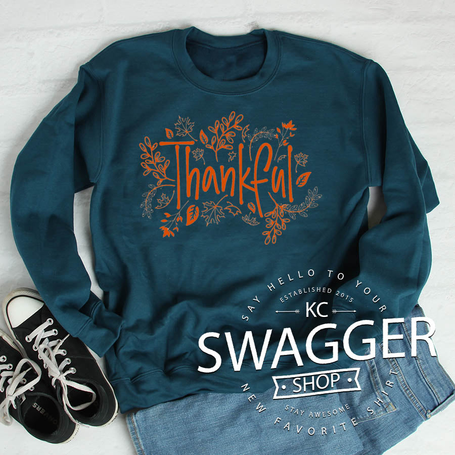 Thankful Sweatshirt Deep Teal