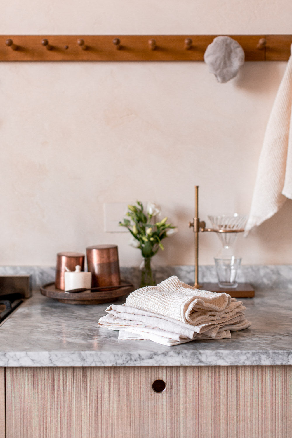 organic cotton and linen kitchen towel