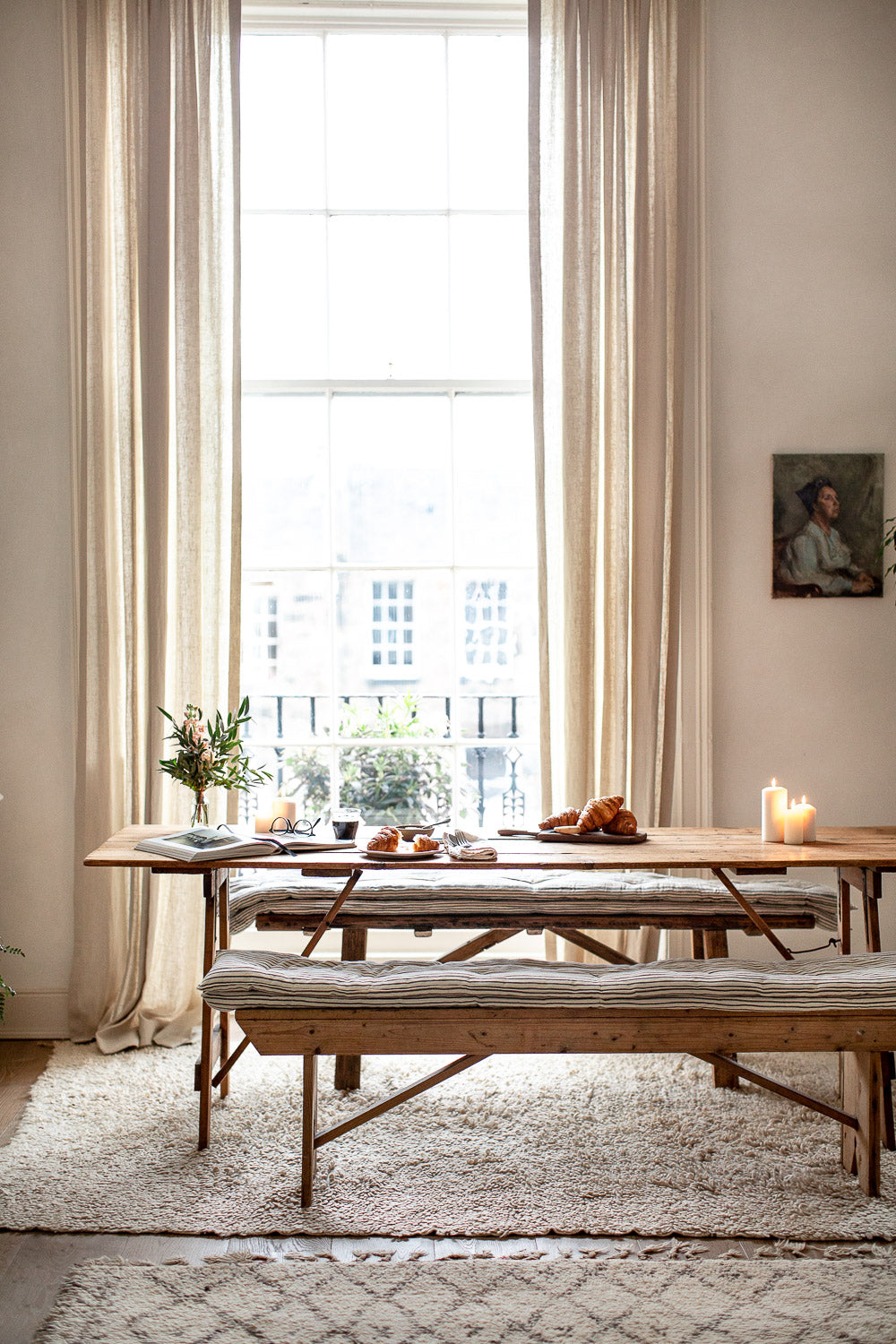 natural modern rustic dining room decor