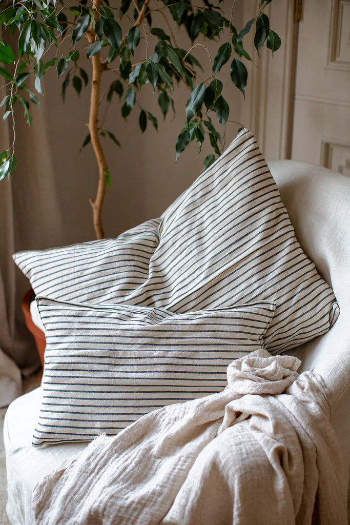 large handwoven cotton cushion covers in stripes
