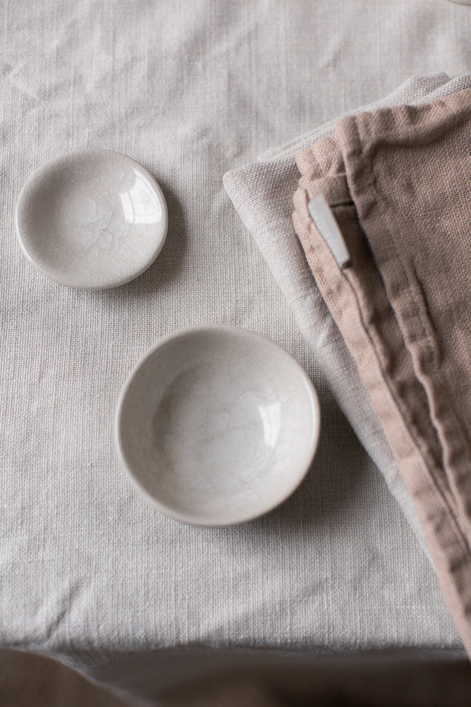 ethical and sustainably produced Belgian table linen with napkins and tablecloth