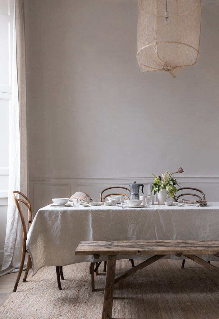 simple natural breakfast table setting